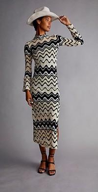 Anna Sui Wavy Vibe Knit Dress