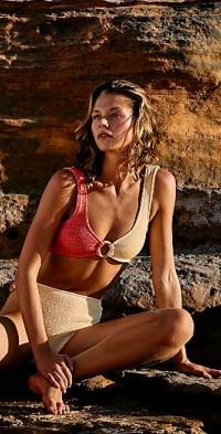 Oceana Kini Smocked Multi Bikini Top