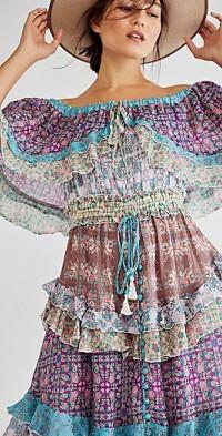 Spiral Frill Tambourine Dress