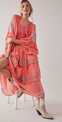 Sweet Pea Cascading Maxi Dress