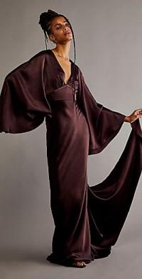 Shona Joy Circle Sleeve Backless Maxi Dress