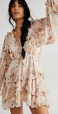 Shona Joy Nina Balloon Sleeve Frill Dress