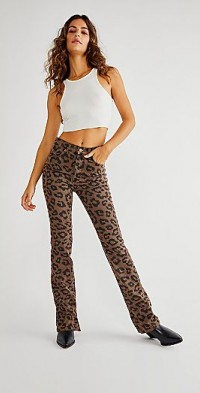 TheOpen Product Leopard Side Button Jeans