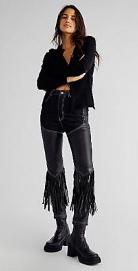 Understated Leather Cowboy Chaps Jeans