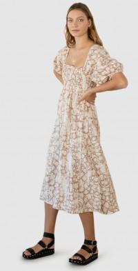 Angelina Linen Midi Dress