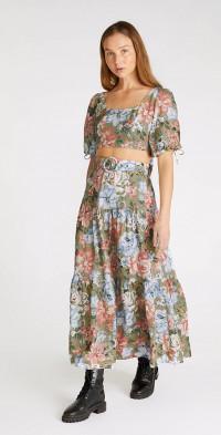 Darcia Linen Maxi Skirt
