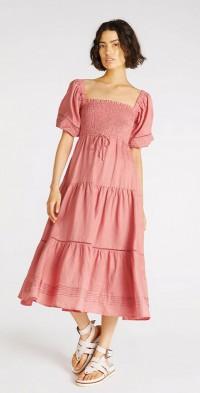 Harlow Shirred Midi Dress