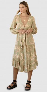Lani Tie Front Midi Dress