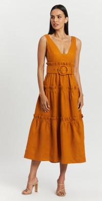 Aria Tiered Midi Dress