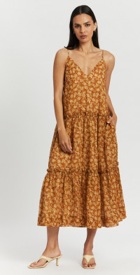 Arizona Plunged Backless Midi Dress