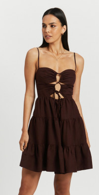 Rubi Lace Up Backless Mini Dress
