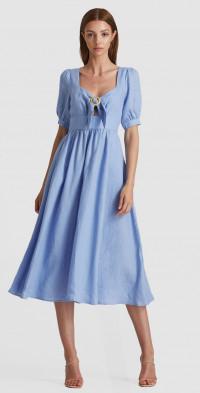 Clara Sweetheart Midi Dress