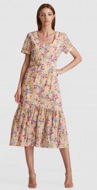 Eliza Broiderie Midi Dress