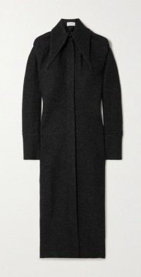 Aden wool midi shirt dress