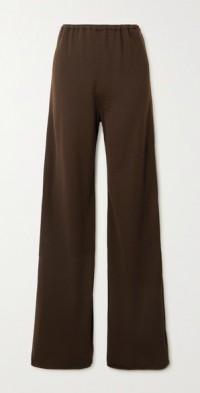 Mandrake wool-blend wide-leg pants