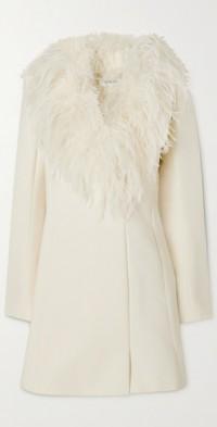 Nemi feather-trimmed crepe mini dress