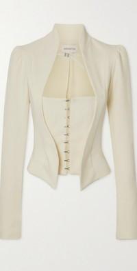 Rupa layered crepe blazer
