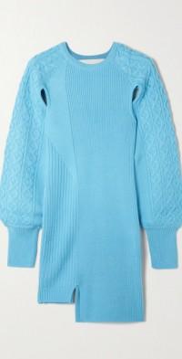 Batty cutout ribbed-knit mini dress
