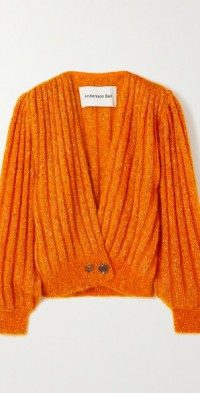Connelly ribbed mohair-blend and Lurex cardigan