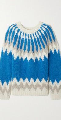 Intarsia-knit sweater