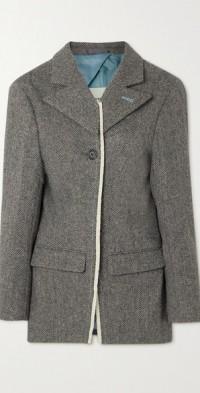 Novah herringbone wool blazer