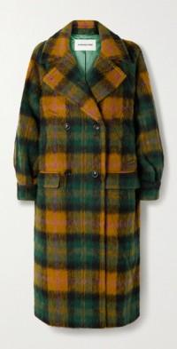 Prato oversized checked woven coat