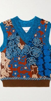 Sea Garden wool-blend vest