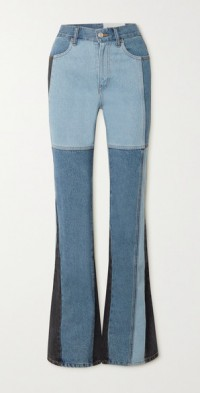 Shirley patchwork high-rise bootcut jeans