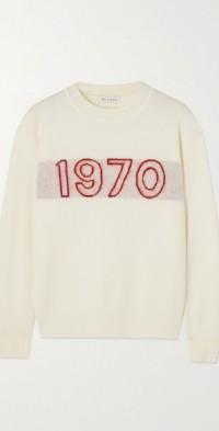 1970 Glow intarsia wool-blend sweater