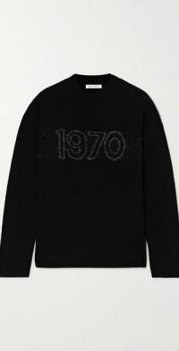 1970 intarsia wool-blend sweater