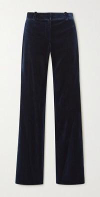 1976 cotton-velvet flared pants