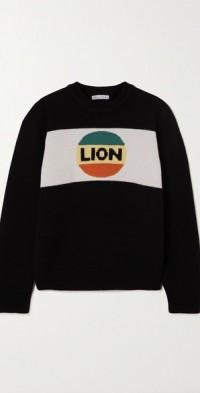 Big Lion intarsia wool-blend sweater