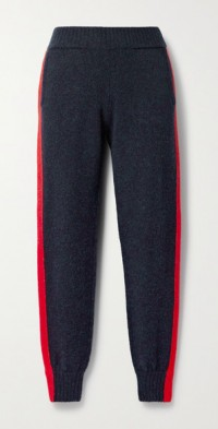 Lauryn striped knitted track pants
