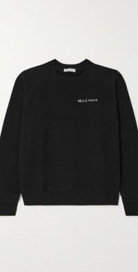 Printed organic cotton-jersey sweatshirt