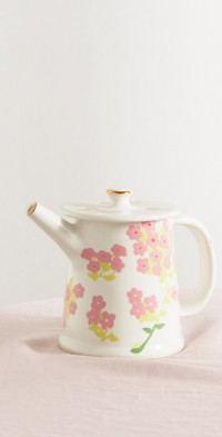 Gold-plated ceramic teapot