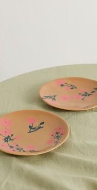 Set of two 19cm ceramic side plates