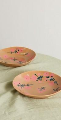 Set of two 22cm ceramic pasta bowls