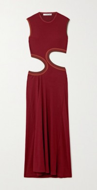 Cutout stretch-jersey maxi dress