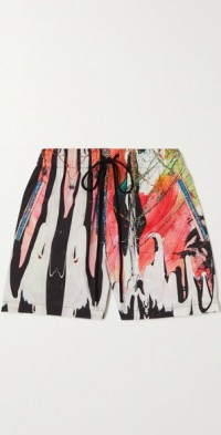 Mindscape printed cotton shorts