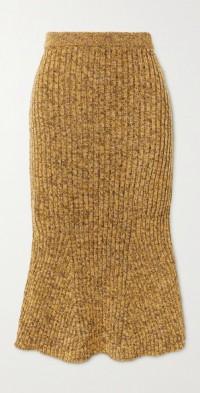Ribbed wool skirt