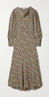 Nanette belted floral-print crepe maxi dress