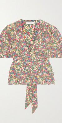 Yana floral-print silk crepe de chine blouse