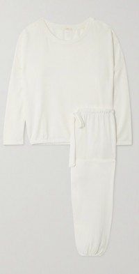 Softest stretch-modal cropped top and track pants set