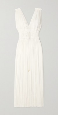 Vereniki draped silk-tulle maxi dress