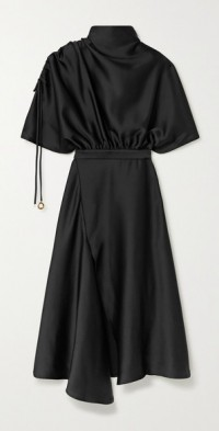 Santorini draped satin midi dress