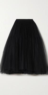 Rachel pleated tulle midi skirt