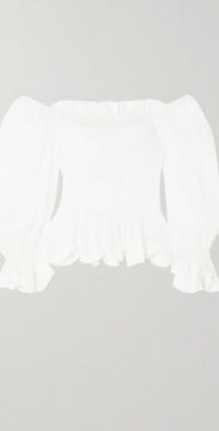 + NET SUSTAIN Lora shirred TENCEL™ Lyocell top