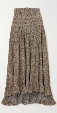 + NET SUSTAIN Melor printed organic silk crepe de chine skirt