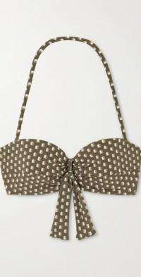 Chiara knotted printed bikini top