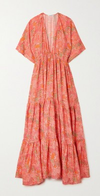 Amelia tiered floral-print TENCEL Lyocell-twill maxi dress